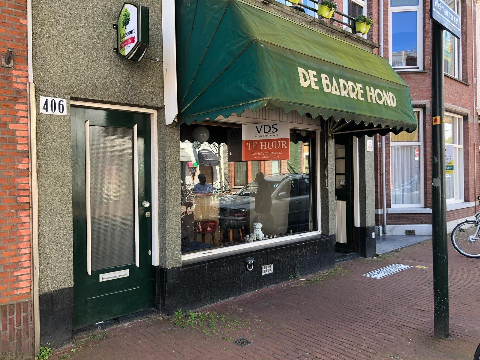 Café in Weimarstraat